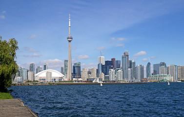 Toronto skyline viewed from Island Park