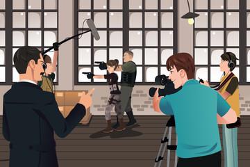 Movie production scene