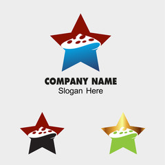 Mushroom icon with star
