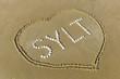 Leinwanddruck Bild - Sylt mit Herz