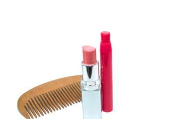 Lipstick and powder