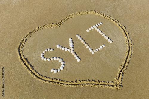 Leinwanddruck Bild Sylt mit Herz