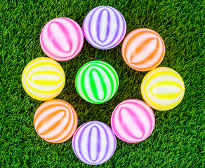 colorful toy plastic balls