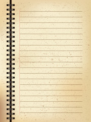 Vector illustration of Old paper notebook.