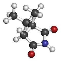 Ethosuximide anticonvulsant drug molecule.