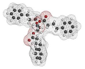 Glycerol phenylbutyrate urea cycle disorder drug molecule.