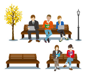 Sitting on the Bench,Various People