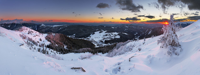 Winter mountain panorama - Donovaly
