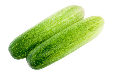 Cucumber isolated on white Background - Vegetable Thailand