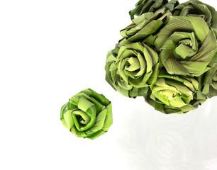 Roses made from Pandanus
