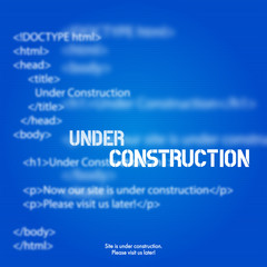 Website Under Construction Design Template