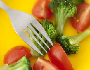 Broccoli and cherry tomato