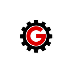 Alphabet G with a gear- corporate logo