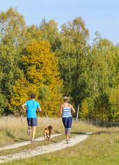 gemeinsam beim Laufen