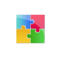 colorful puzzle logo