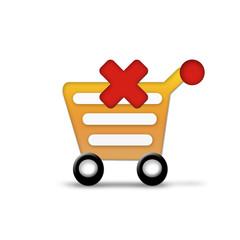 Error shopping cart graphic