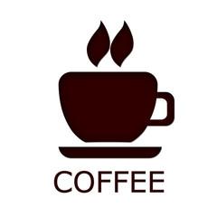 Coffee mugh text- logo for cafe