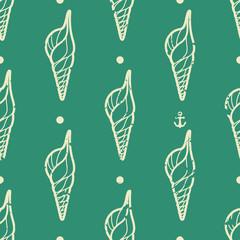 Vintage seashell pattern