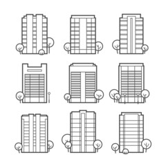 Apartment building icons
