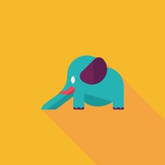 elephant slide flat icon with long shadow,eps10