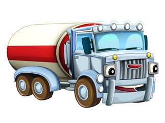 Cartoon truck - illustration for the children