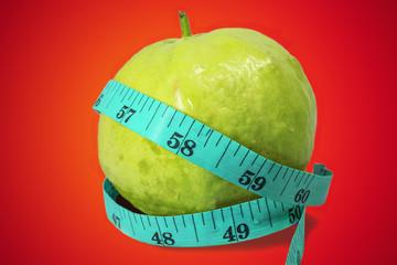 Guava fruit  tape measure