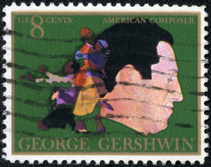 American classical and jazz composer and pianist George Gershwin