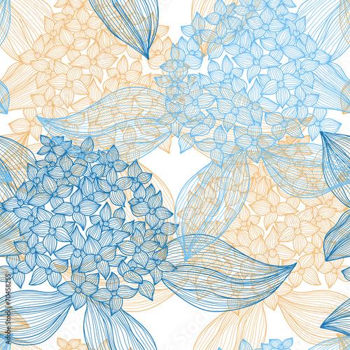 Deurstickers Kunstmatig seamless pattern