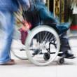 Zoomeffekt mit Rollstuhl Inklusion