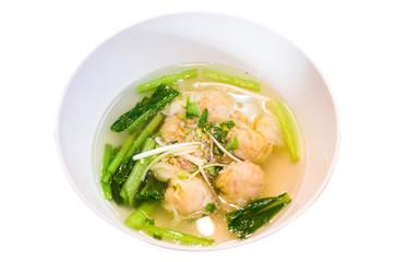 Shrimps Wonton Soup
