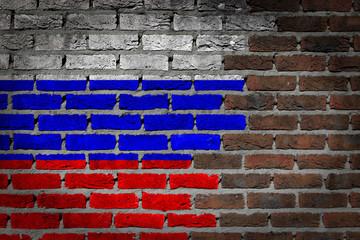 Dark brick wall - Russia