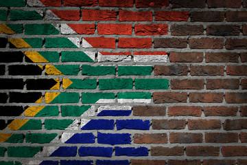 Dark brick wall - South Africa