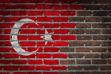 Dark brick wall - Turkey