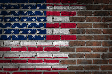 Dark brick wall - USA