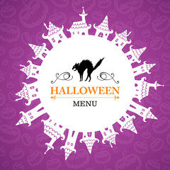 Vector Illustration of an Abstract Halloween Design