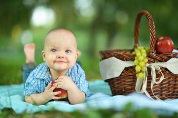 boy  at the picnic