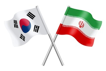 Flags: South Korea and Iran