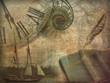 Leinwanddruck Bild - History Collage