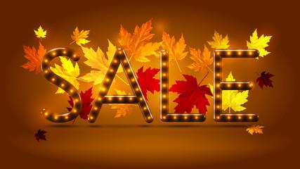 Warm autumn sale poster