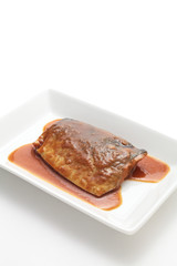 Japanese cuisine, mackerel simmered in miso sauce