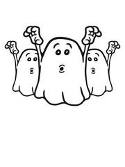 3 Erschreckende kleine freche Geister Team