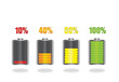 Battery Energy Indicator Icons