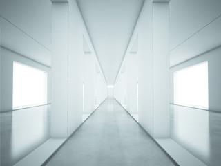 Perspectie view of corridor