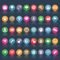 Set of social media icons, round. vector format 2