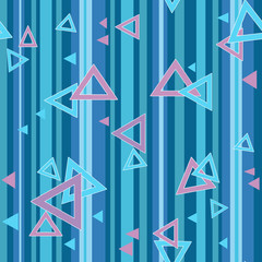 Bright color triangle seamless pattern background