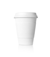 White paper cup isolated