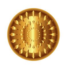 Golden light circular radial geometric dynamic shapes