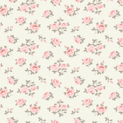 Seamless floral pattern with little roses