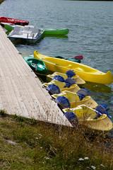 Canoës sur ponton