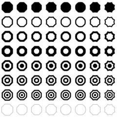 Octagon set